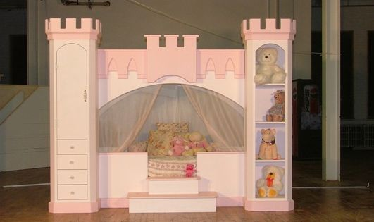 awesome space saving bunk bed ideas- especially like the castle bed with