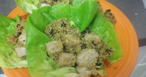 Pork lettuce wraps, Red bell peppers and Peanut sauce on Pinterest