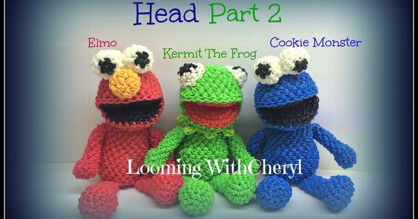Rainbow Loom Head For Kermit The Frog Elmo Cookie