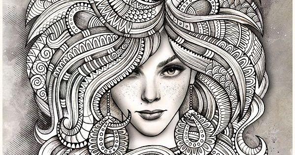 "Mandala Mujer Para Colorear: Zodiac Illustration ""LEO"" On Behance"