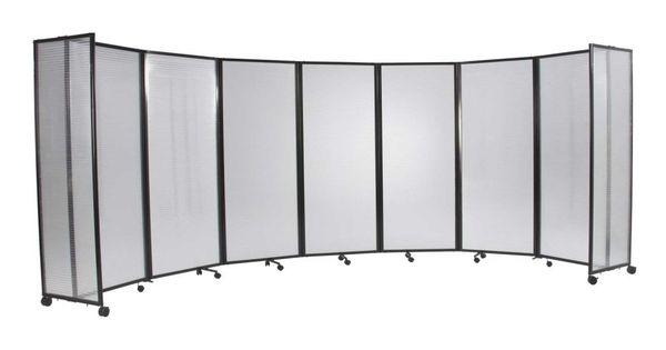 Versare Wide Plastic Folding Mobile Room Dividers Temp