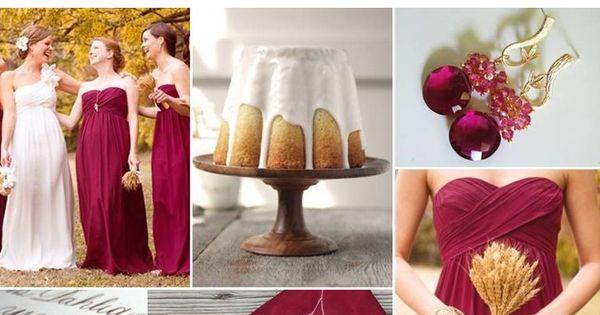 Fall Color Palette: Fig, Camel, Antique Gold + White (or Rose)