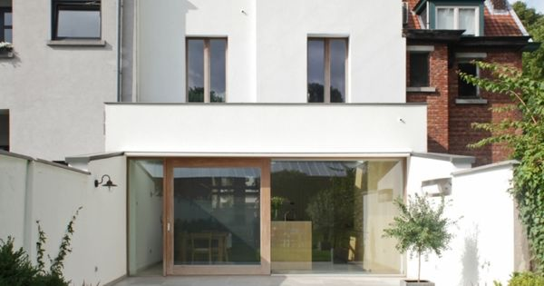 Mortsel antwerpen eengezinswoning koppelbouw rijwoning renovatie en uitbreiding huis - Uitbreiding huis glas ...