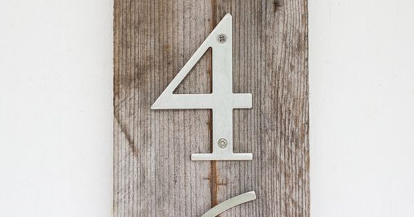 Modern Rustic House Numbers On Etsy 29 95 Our Little