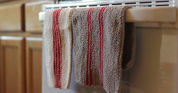 comment tricoter torchons vaisselle