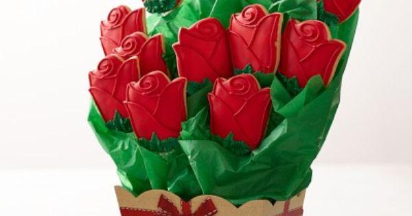Rose Cookie Bouquet 12 koekjes 51 euro williamssonoma