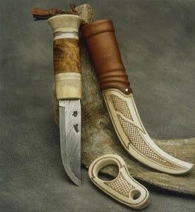 Sami Bone Carved Knife Knife Handcrafted Knife Cold Steel Knife