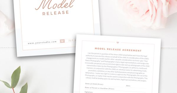Photography Model Print Release Template (Minors) - Photography - release agreement