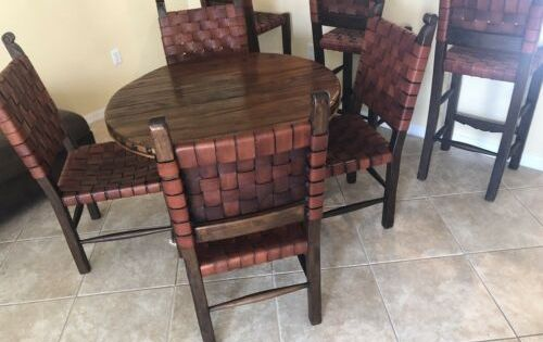 Diningroom Table Leather Woven Chairs Barstools Furniture