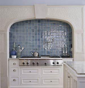 Blue Mosaic Tile Backsplash French Provincial Wall Light Blue