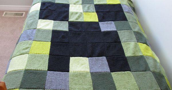 Minecraft Crochet Afghan Pattern Free : Geek Crafts: Minecraft afghan knitting pattern klaT ...