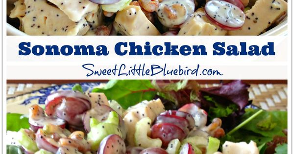 Sonoma Chicken Salad - Whole Foods' Recipe - {loaded with tender chicken