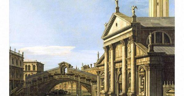 The Rialto Bridge and The Church of S Giorgio Maggiore Canaletto Art Print