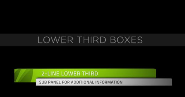 Lower Third Boxes