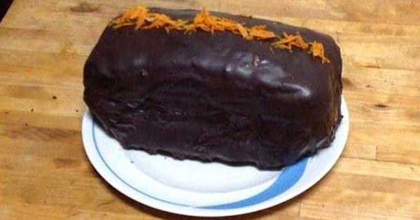 Bizcocho Naranja Canela Nueces Pepitas De Chocolate Y Cobertura
