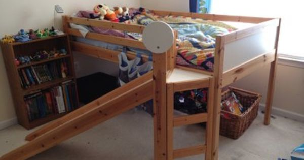 Ikea Loft Bed With Slide My Kids Would Love This Ikea Bunk
