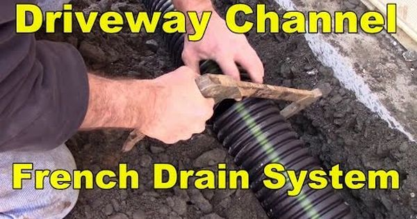 How To Install A Channel Drain Youtube Driveway Drainage Drain