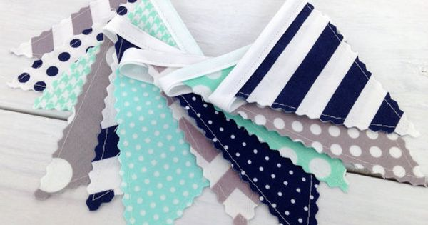 Bunting Banner Mini Fabric Banner Fabric Flags Baby Boy