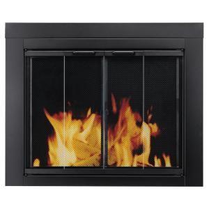 Pleasant Hearth Ascot Medium Glass Fireplace Doors At 1001