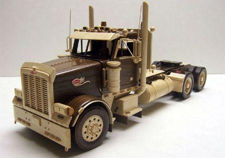 1995 peterbilt 379 truck and lowbed brinquedos de for Wood floor for 379 peterbilt