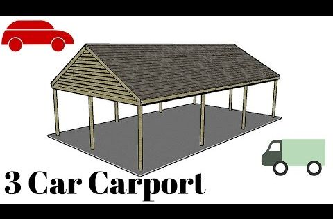 3 Car Carport Plans Myoutdoorplans Free Woodworking Plans And Projects Diy Shed Wooden Playhous Carport Plans Carport Designs Sideboard Woodworking Plans