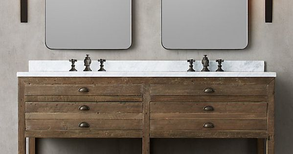 Printmaker 39 S Double Washstand Dimensions Vanity Sink With
