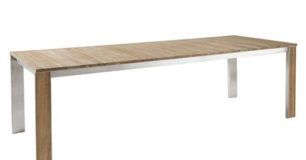 Une table de jardin en teck au jardin le teck continue for Jardin synonyme