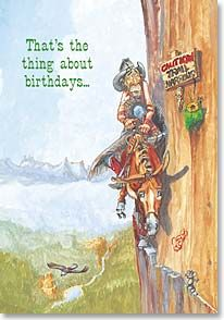 Birthday Card Funny The Thing About Birthdays Boots Reynolds 19938 Leanin Tree Funny Birthday Cards