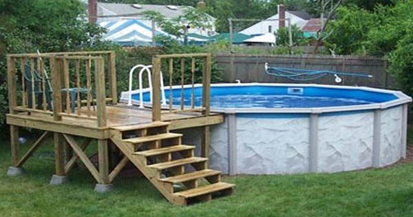 Deck plans for above ground pools low prices decked out for Low price decking