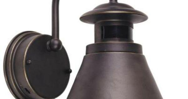 Hampton Bay 180 Degree Oil Rubbed Bronze Motion Sensing