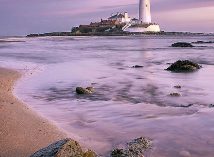 St. Mary's Island, just north of Whitley Bay on the coast of