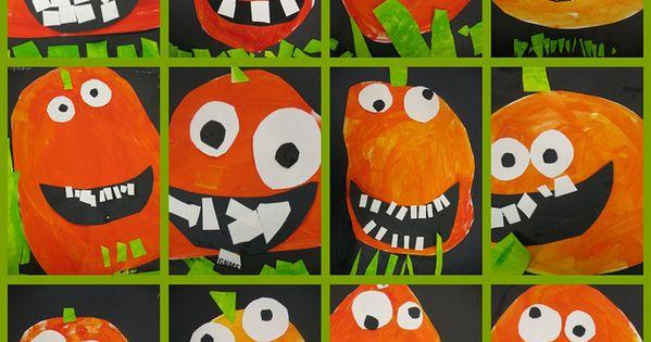 goofy pumpkins art project