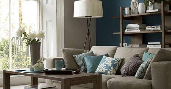 55 Decorating Ideas For Living Rooms Paint Colors Blue Wall Colors And Teal