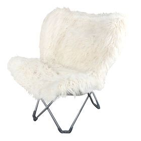 Picture Of White Fur Butterfly Chair Butterfly Chair Dining Chairs Diy Retro Dining Chairs