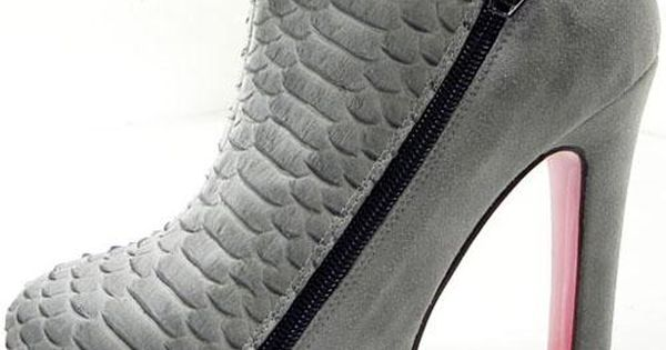 Christian Louboutin 4A 120mm Ankle Boots Grey