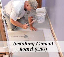How To Install Cement Board Cbu For Floor Tile Bathroom Floors