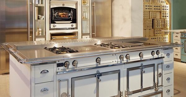 Dream ch teau kitchen with 65 la cornue ovens and cooktops configuration i want this island - La cornue kitchen designs ...