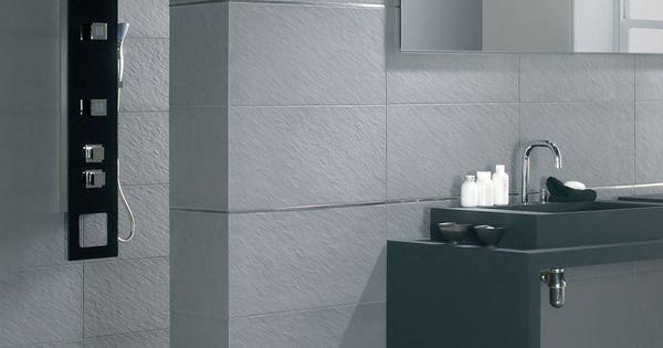 Revestimientos cuarto de ba o azulejos imitaci n piedra - Gres para banos ...