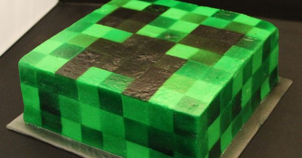 Minecraft, Creepers and Schlingpflanze Kuchen on Pinterest