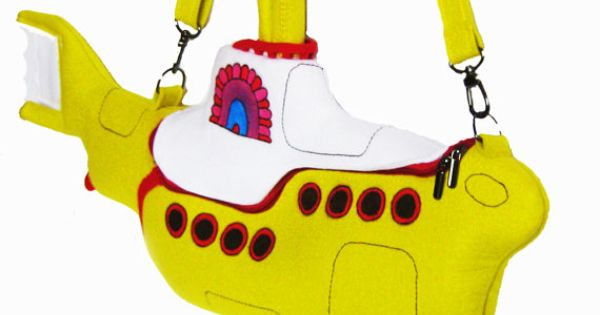 "The Yellow Submarine Bag---this ""artist"" has created some awesome bags! Check them"