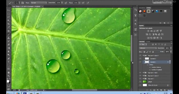 Como Criar Gotas De Agua Com Photoshop Cs6 Photoshop Gotas De