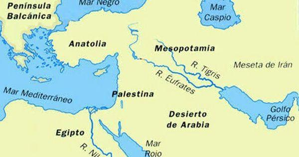 Ríos Tigris Y éufrates Mesopotamia Colegio Sagrados Corazones Peninsula De Los Balcanes