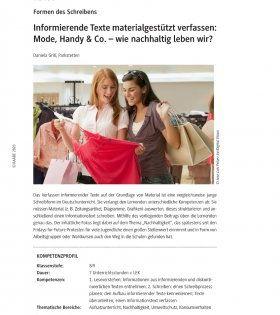 Informative Texte Schreiben Deutsch Klasse 10
