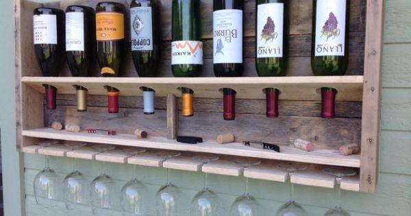 Env o gratis simplista reclamado madera por for Estantes para vinos