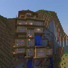 Threw This Together In An Afternoon Mountain Side House Minecraft Houses Cool Minecraft Houses Minecraft Architecture
