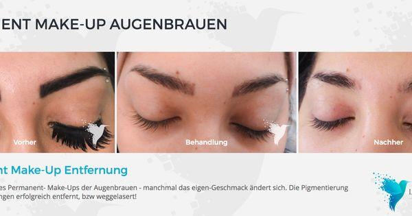 Permanent Make Up Entfernung Augenbrauen Laser Asthetik Institut Bob Frisur Dickes Haar Augenbrauen Mittellange Haare Frisuren Einfach