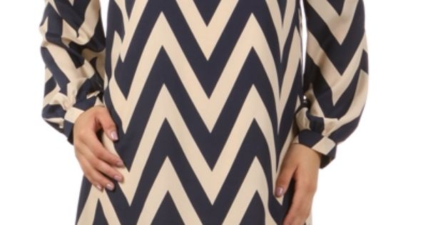 Chevron, Chevron every where! Navy Chevron Stripe Tunic Dress