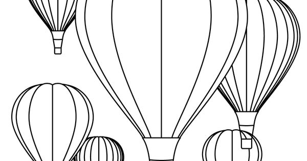 Hot Air Balloon Coloring Pages - Free Printables