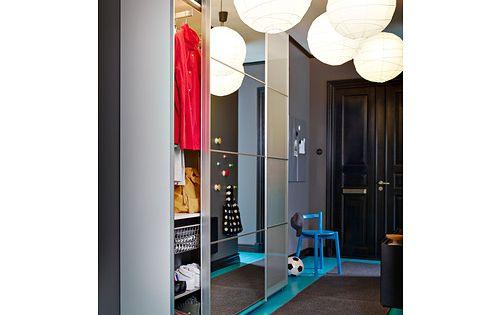 pax wardrobe with interior organizers white auli sekken. Black Bedroom Furniture Sets. Home Design Ideas