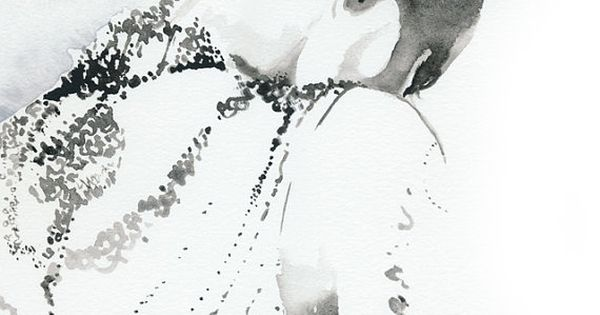Black and White Fashion Illustration by Silveridge Studio l